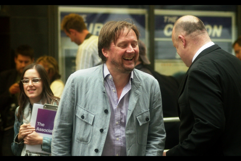 I thought this might have been some kind of 'family and friend' or random music-industry guest, but turns out this is director David Mackenzie. So... just as well I choose to keep quiet at premieres!