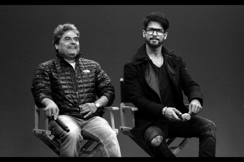 Vishal Bhardwaj (left) has now directed three Shakespearean adaptations - the prior two both winning Awards of the International Indian Film Academy. Meanwhile, Shahid Kapoor (right) garnered quite the excitable female crowd to this event.