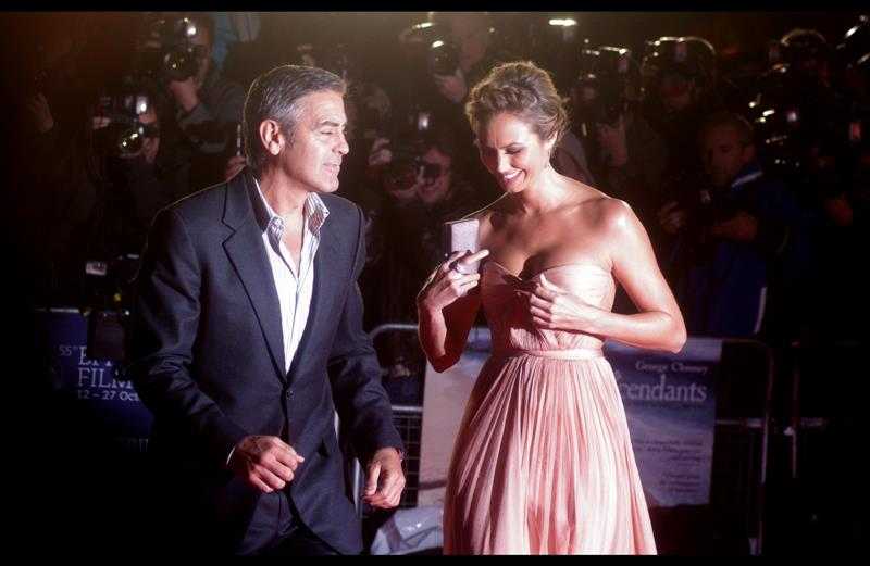"Miss Keibler:  ""And so I told Andre The Giant 'yo, you ain't that big'. True Story""  Mr clooney:  ""Sure, Babes""  Miss Keibler :  ""I'm still smiling, but no longer in a good way. Don't call me 'Babes' """