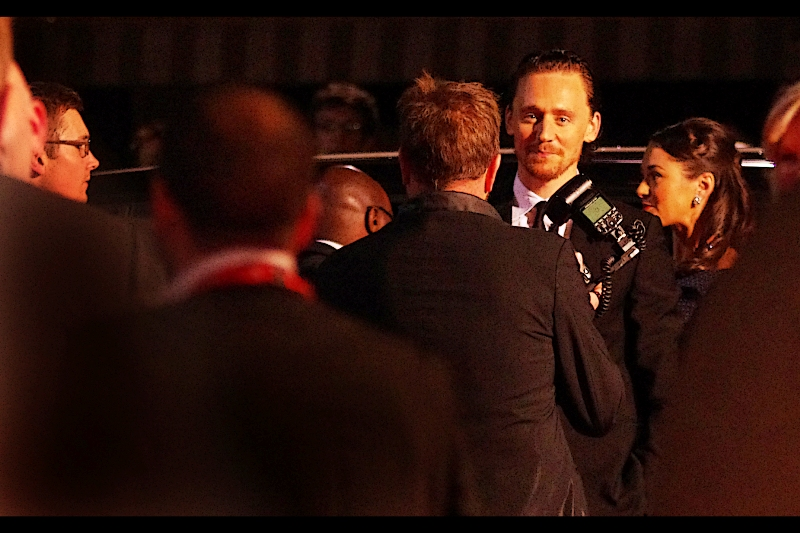 It's Tom Hiddleston!! If you're screaming loudly, it might be because you're standing next to me, crushing my fragile ear canal.