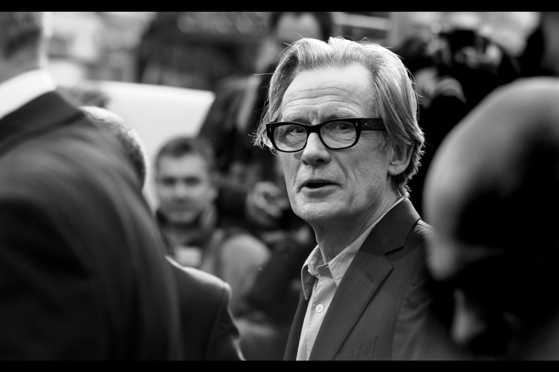 Bill Nighy, bless him, DID attend. He plays the grandad-Santa in this film, and his career is a long and distinguished one (he did note, however, that he's barely 'minutes' older than his 'son' played by Jim Broadbent.