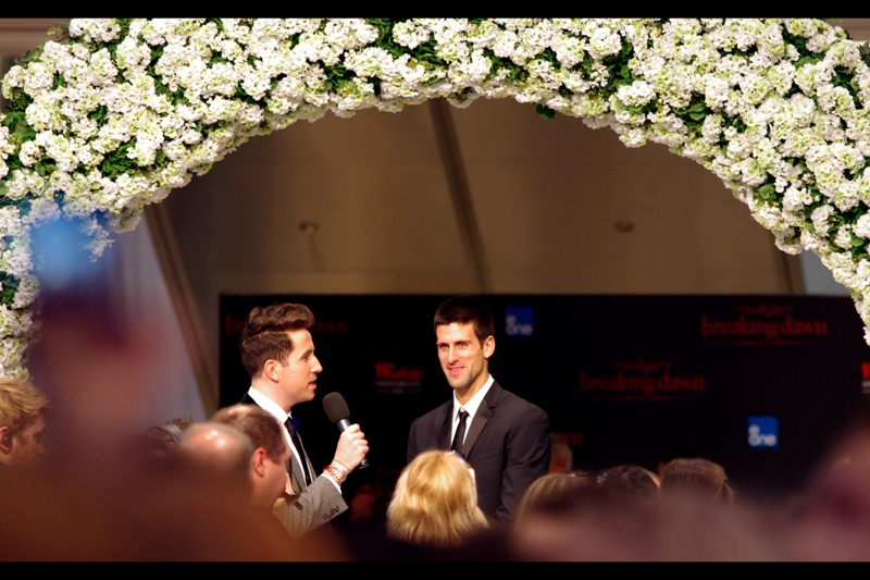 For no readily apparent reason (except, perhaps, the obvious... however improbable), Tennis player Novak Djokovich turned up and was interviewed. Other stars not in the film using the premiere as a pretext for raising their own personal profile were singer Pixie Lott, Holly Valance, Formula 1's Jenson Button, a couple of girl bands and TV presenters, and about half the competitors of this season's X-Factor.
