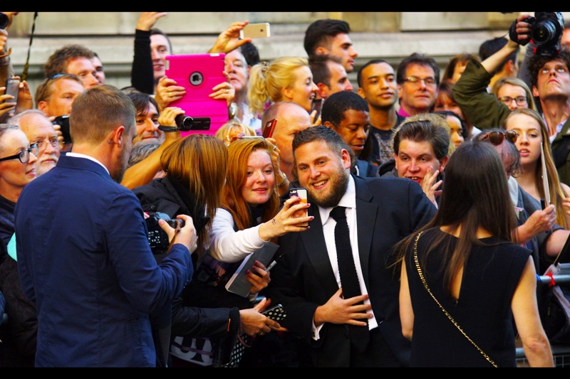 """Seriously? You pirated that? Do you kids pay for ANY movie these days? How the hell am I earning a decent living if nobody's making any money?""  I assume the money's all in GQ Magazine publishing. Jonah Hill won the enigmatically-titled ""International Man"" award on the night."