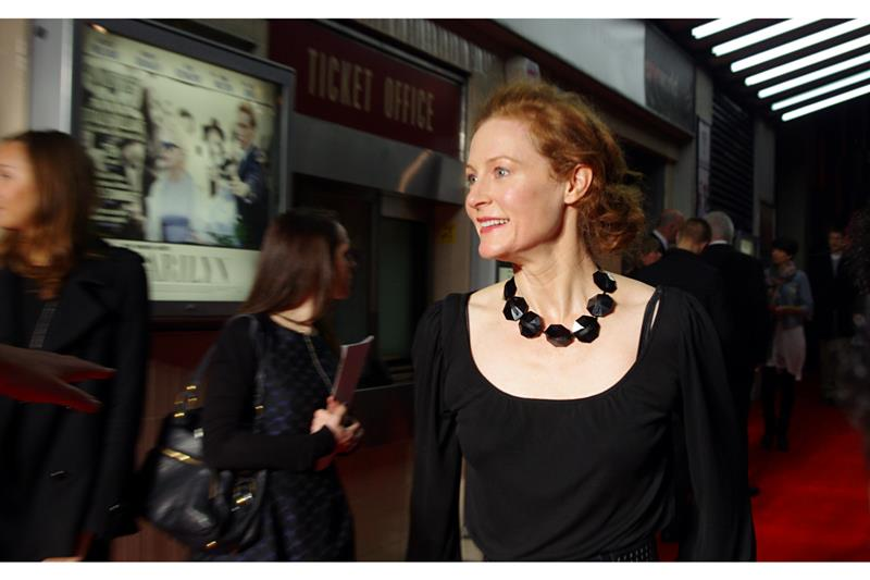 Awesomely,   Harry Potter Connection #3   at this premiere comes in the form of actress Geraldine Somerville, who plays Lily Potter - Harry's Mother - in flashbacks, pensieves and 'mirrors of eriseds' across the 1st, 2nd, 3rd, 4th, 5th, 6th, 7(A)th and 7(B)th movies in the series. Watch 'em if you don't believe me. (or, you know... go onto imdb)