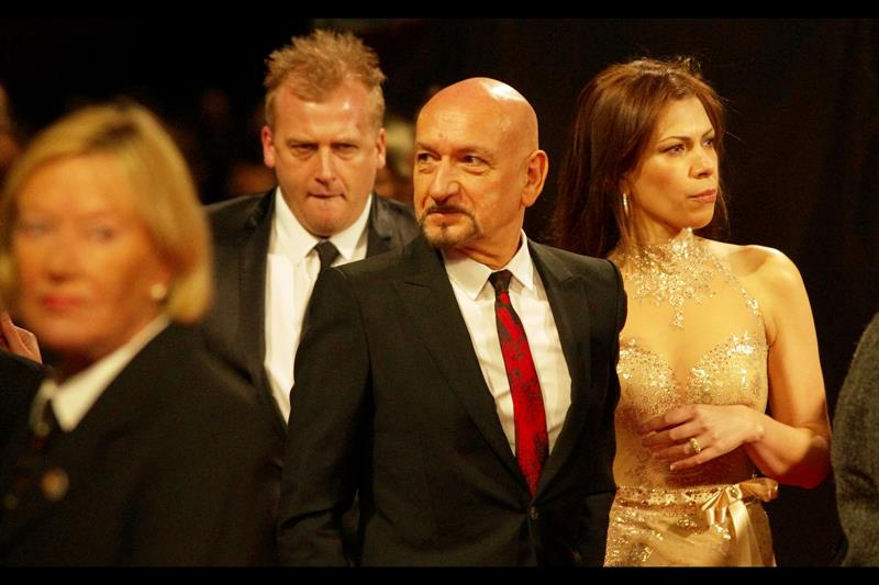 It's Mr and Mrs Sir Ben Kingsley, who between them have a knighthood, an Oscar, a credited role in the movie 'Species' and a fetching beard/moustache.