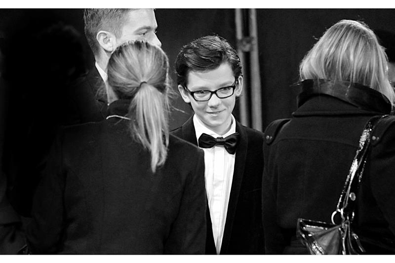 And here we have Asa Butterfield (yes, I spelled that correctly) plays the role of 'Hugo Cabret' - after whom the title of the film is named. He has a few acting roles to his credit, as well as a pair of glasses.
