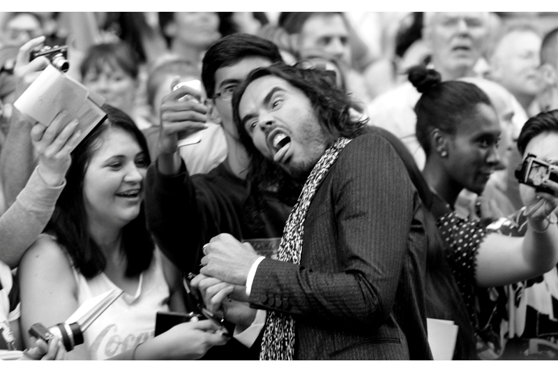 Russell Brand... actually possibly easily distracted.