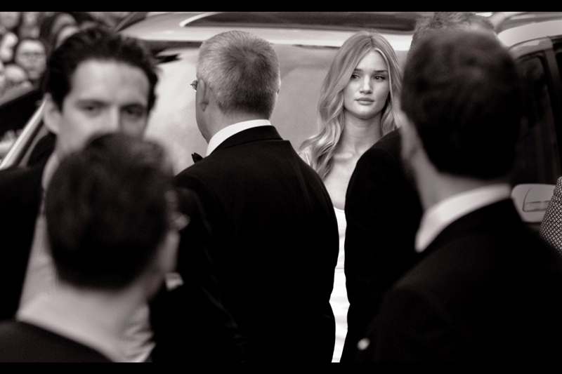"Rosie Huntington-Whitely, model/actress/Jason Statham's girlfriend. She and I shared a moment at the premiere of ""Hummingbird""  and then her boyfriend and I shared a moment of clarity afterwards."