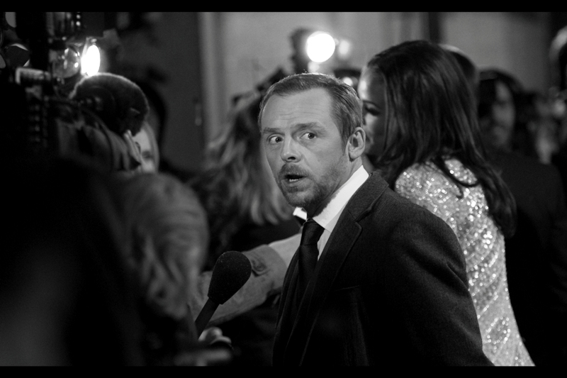 Simon Pegg, looking quirkily awesome.