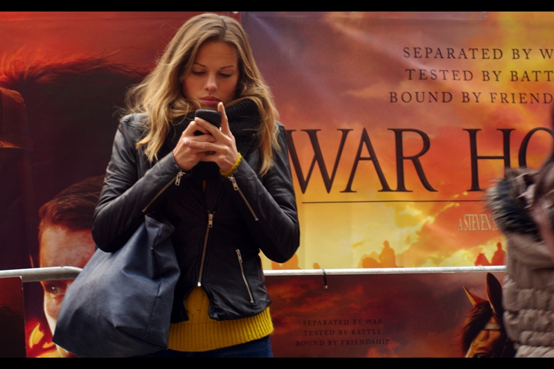 """Texts: """"At first glance it's a film called """"War Ho"""" or something. I can't imagine Spielberg doing movies in that genre, but we'll see. Anyway, gotta go"""""""