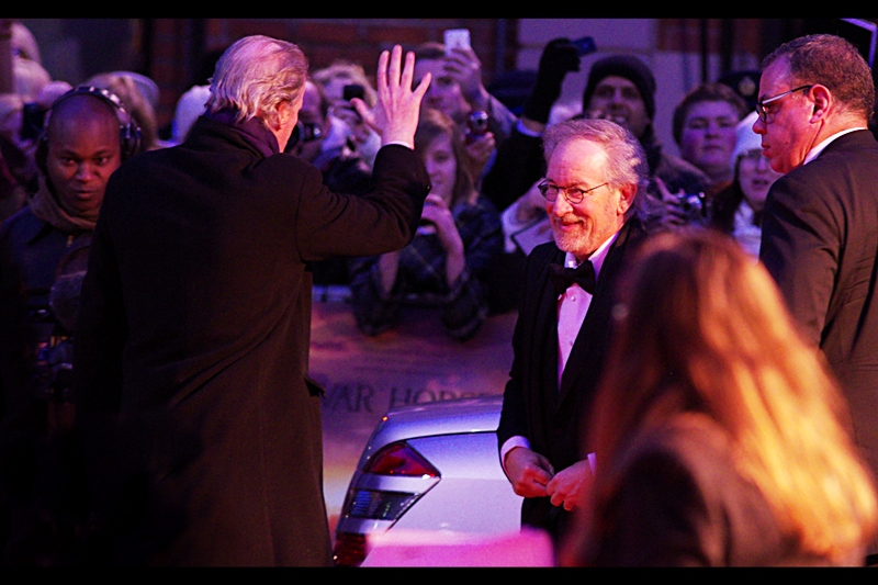 """""""Don't leave me hanging, bro. I don't care who you are. You don't DO that""""   Young Director. Couple of films under his belt. Could do quite well for himself in years to come....  Okay, fine, cue my childlike excitement : Director Steven Spielberg has arrived!!!!"""