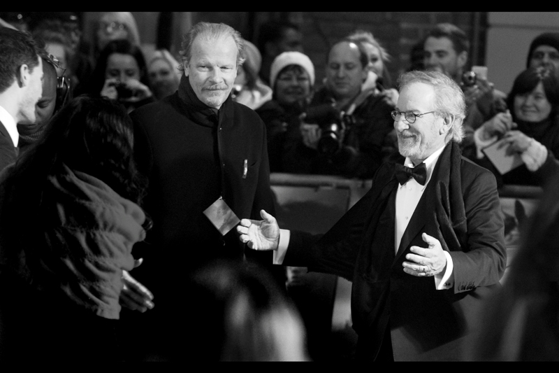 Woo! Spielberg! He seemed very nice and friendly. I don't think he high-fived that dude, though. It's all in the timing, I think, as I start rehearsing my ten second movie-pitch to The Master.  (no, I'm not telling you what it's about, if I even have one!)