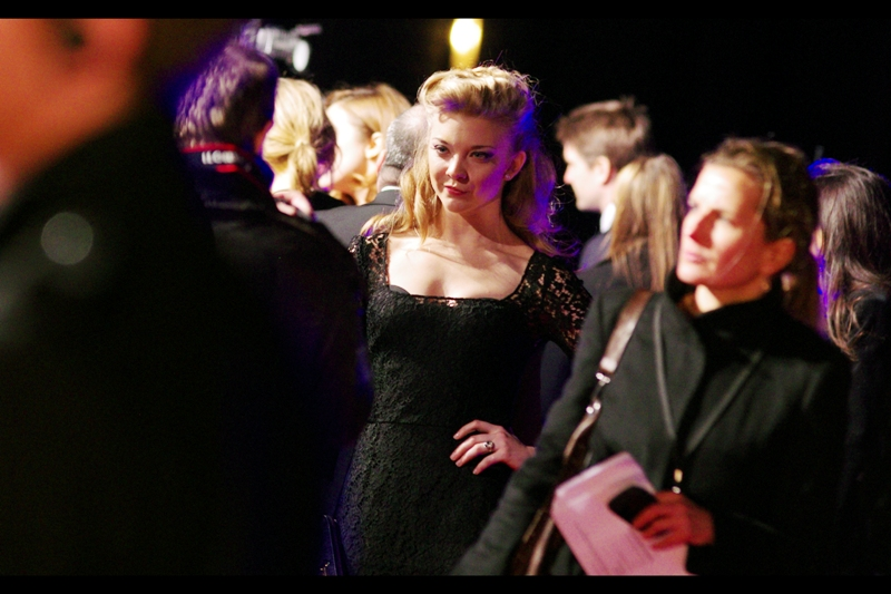 Natalie Dormer plays Elizabeth (the Queen Mother, then?) in the film. She's also apparently in Captain America. So there you go.