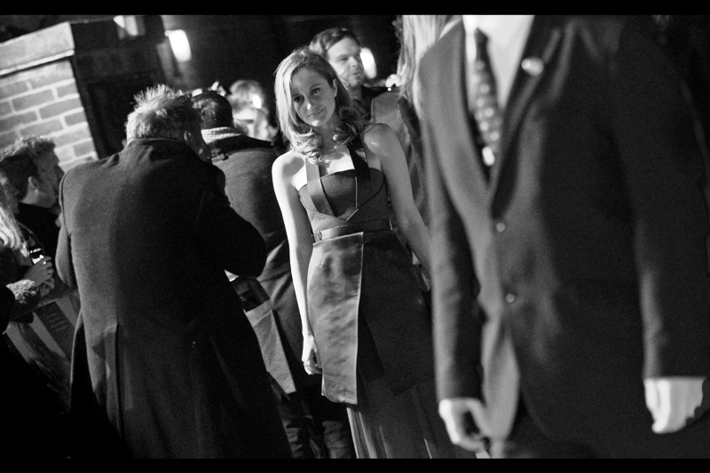Andrea Riseborough is very pretty and wore a really stunning burgundy-ish dress on the night... neither of which is adequately displayed in this photo. (Wait.. did I just notice a dress style?)