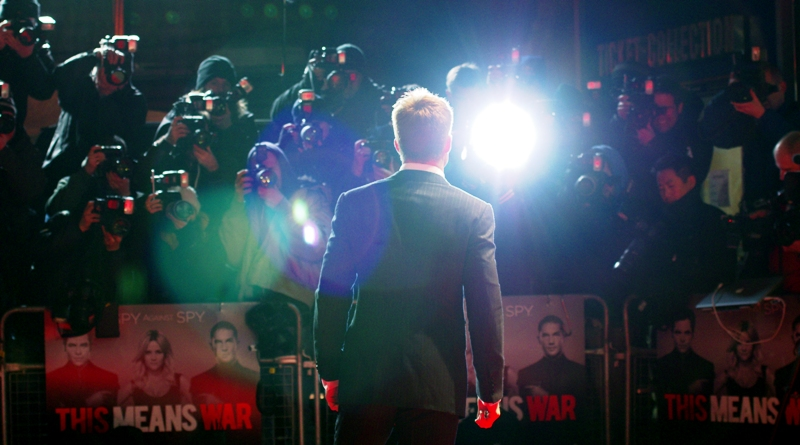 As a big fan of JJ Abrams' Star Trek, I felt it necessary to find the biggest, hugest, lens flare that Chris Pine stepped into this premiere. Watch the movie - it's great - and... LENS FLARES!