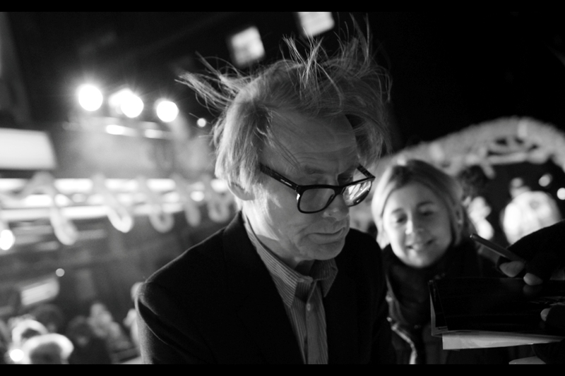 Bill Nighy's hair is doing things that normal hair shouldn't. But it does add credence to my claim of it being freezing. Minus 4 degrees PLUS windchill = I should have brought more layers. Yes, EVEN MORE.