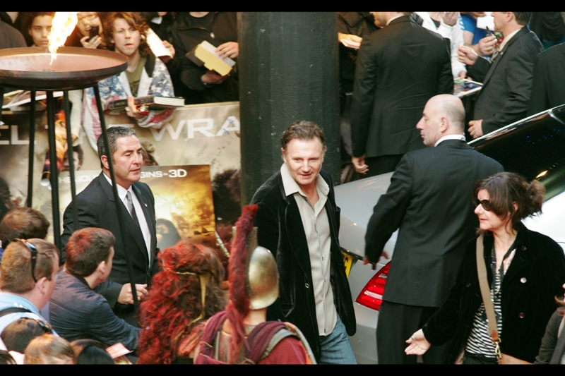 """Sadly, I completely failed to not have the lyrics  """"Oh, we can't help but wonder....""""  going through my head when Liam Neeson arrived, toothpick and all. (You either listen to Hollywood Babylon or you don't...)"""