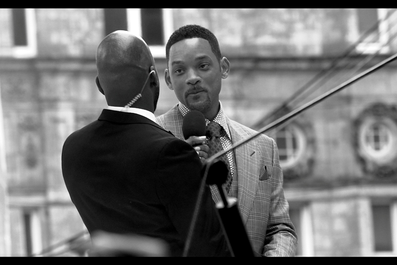 """There is a theory in romance that when the moment is right and neither of you have said anything for a little while, you can break the silence with the phrase *""""I think we should kiss""""*. I think Will Smith would totally go for that, but you gotta mean it, otherwise forget it."""