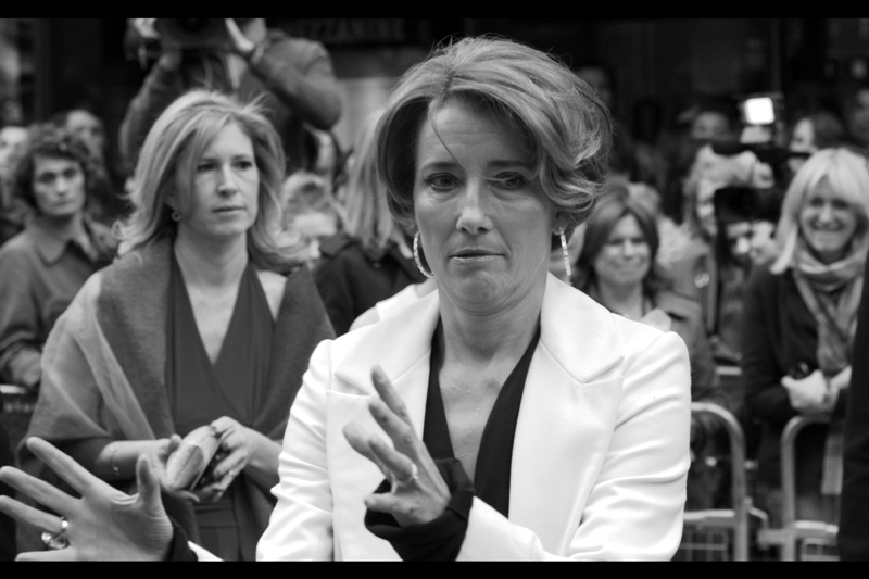 Emma Thompson is pretty confident that if you give her two pens she can sign everyone in half the time.