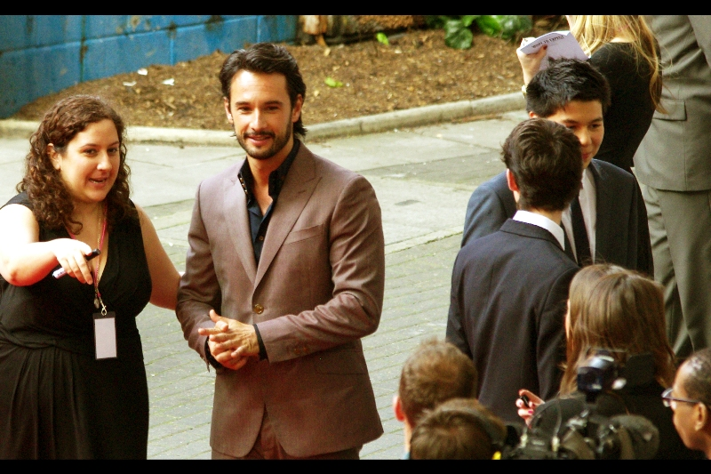 I have (had) no idea who Rodrigo Santoro is, and indeed I spent more time photographing his (male) assistant as he was more flashily and outrageously dressed. I've since checked IMDB, and not only is he in this film, he was also Xerxes in '300'?? (Wait... how? He was like 8 foot tall and mostly computer graphics and weird piercings!)