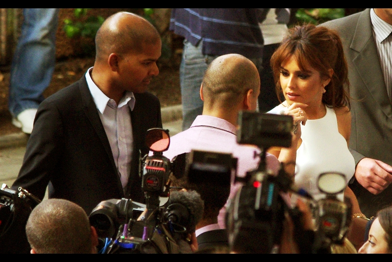 """I'm double parked? Really? Can I afford to just abandon it, cause I really can't be bothered digging out my phone and paying the fine....""  I last photographed Cheryl Cole from above street level when she was besieged by a massive crowd outside BBC Radio1 in a photo I call Crush"