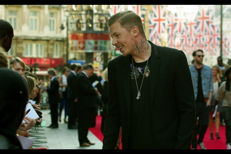"""Did it hurt getting this? No, not really - it's a watercolour""  This is musician Professor Green, who might not have medical credentials but does have a girlfriend (not pictured)"