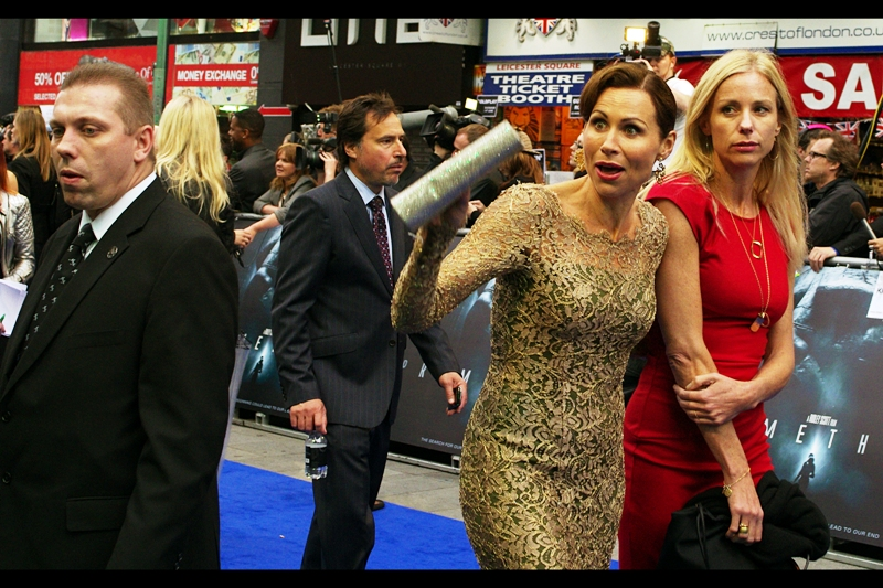 Weirdly, Minnie Driver showed up. Either that, or an immensely talented Minnie Driver impersonator who ALSO had no specific reason to be at this premiere.