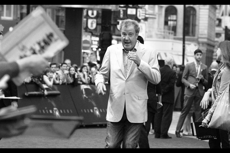 *Meanwhile* here's Top Gear's Jeremy Clarkson, actually RUNNING to avoid signing autographs. And/or merely been somewhat late