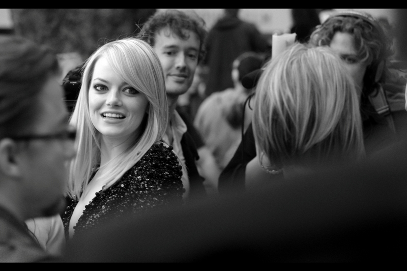 Emma Stone is pretty, but I can't say I've had the pleasure of seeing any movies she's been in thus far.  (checks imdb) . I stand corrected : Zombieland, of course.