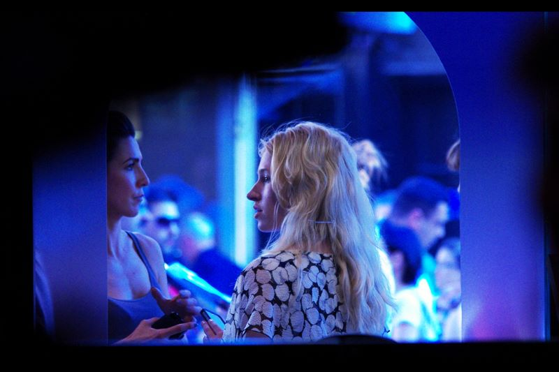 This lady, on the other hand, is a remarkable Scarlett Johansson lookalike. I'm unable to determine her identity from inside the cinema, or through the heat haze.