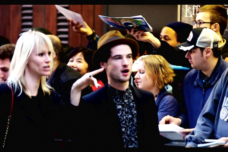 This photo of Tom Sturridge's assistant pointing at Tom Sturridge's earlobe is as good a shot of the actor that I managed...