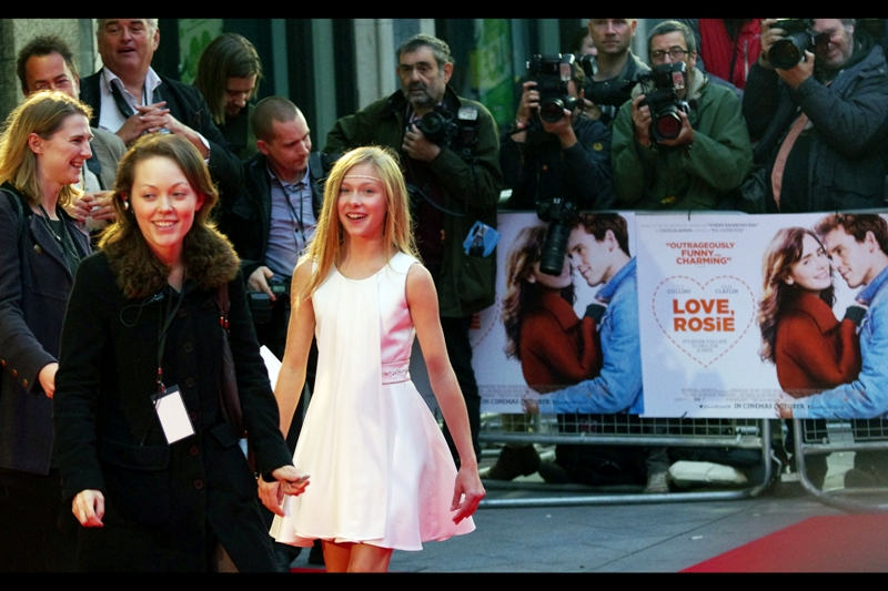 Our first arrival is a little girl in a white dress.... but she's in the movie and her name is Lily Laight. Rather Awesomely (besides the name, which is already awesome), she also had a small role in Les Miserables (albeit not as the face of the girl on the poster, as I'd previously claimed/hoped)
