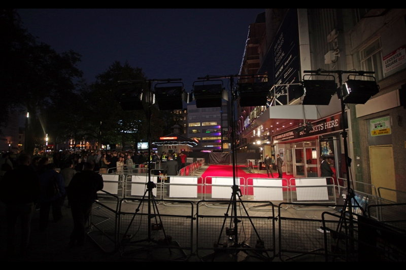 The thing with London Film Festival is that if you do it right, it's not just one premiere per day for over a week and a half, but on certain days the red carpet is like an airport - they have them landing in a well-scheduled sequence right in front of you!