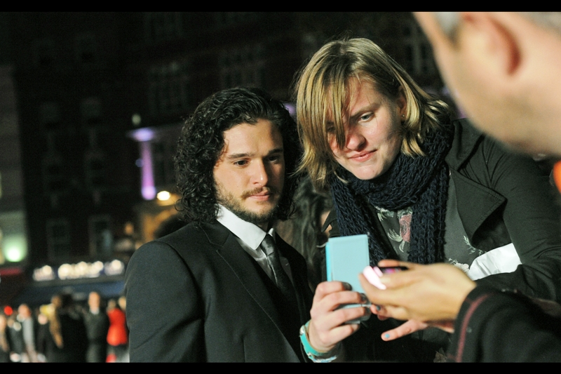 """ Please excuse the small font... but I think you'll agree that my Jon Snow fanfic is really going where the fans of the show want it to go"".  Kit Harington might yet be making a beeline for the door of the Odeon much sooner than the hordes of Autograph Dealers make it to where we are."