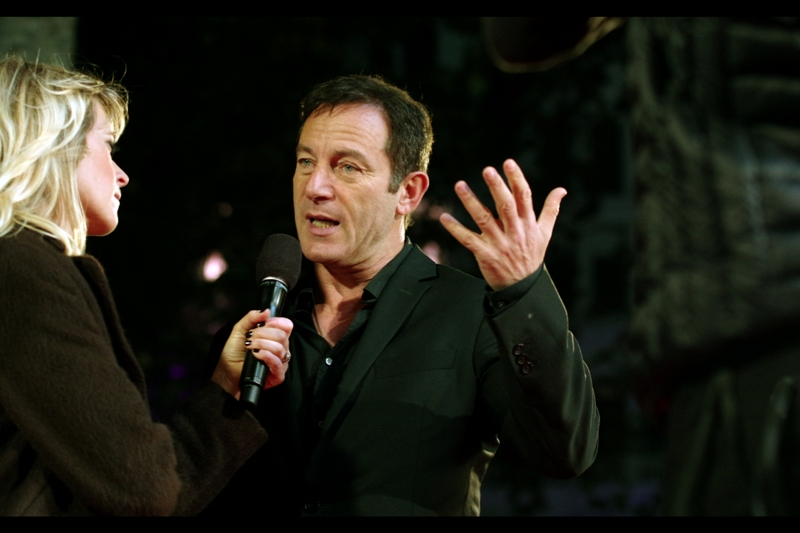 """""""I think Voldermort was misunderstood, is all. We were all just kids, making mistakes...."""" Jason Isaacs played the villainous Lucius Malfoy in the Harry Potter movies. And to think, I only photographed Professor Snape one premiere ago (and Daniel Radcliffe - Harry Potter himself - will be in Leicester Square tomorrow for the movie """"Horns"""")"""