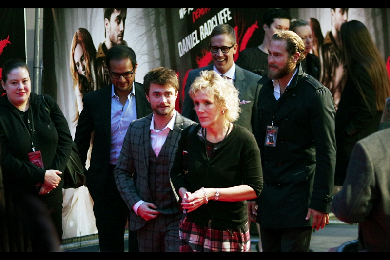 "To the screams of hundreds and a square-patterned pinstripe suit and beard, Daniel Radcliffe arrives. I last photographed him just a few months ago at  the premiere of the movie ""What If"""