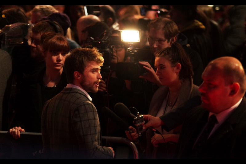 """Like we're being WATCHED (and or pickpocketed)!""  Daniel Radcliffe continues to hold court over his particular interview."