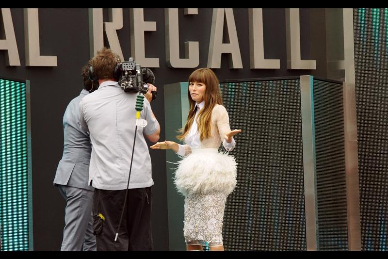 "Jessica Biel :  ""Fashion Failure What?""  What indeed."