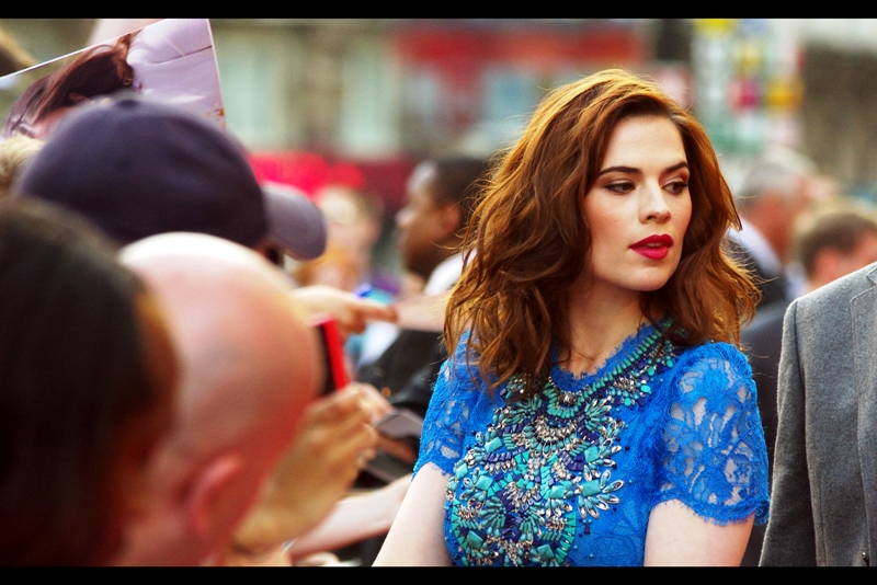 Hayley Atwell played Agent Peggy Carter in Captain America, and is very pretty, for a dame. I mean agent. I mean... and agent who's a dame. Erm...