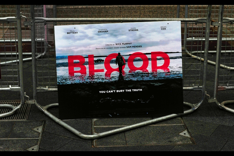 London Film Festival Day 2. Today's premiere (there are actually several, but this is the one I chose) is for a film called 'Blood', and I am oddly surprised and pleased that it appears to not be a frikkin' vampire film!!!