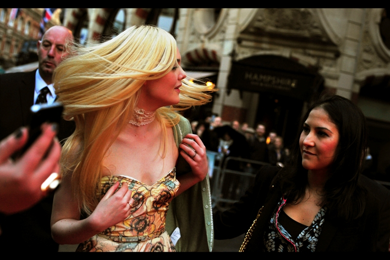 """Elle Fanning :  """"Whee!! I could do this all day!!""""  Ms Fanning's Assistant :  """"And I'd stop you"""""""