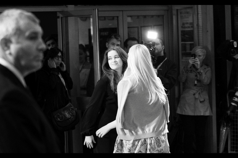 """Alice Englert (""""Rosa"""") joins Elle Fanning (""""Ginger"""") in posing for the paparazzi. Weirdly, where Elle was in a movie called """"Super 8"""", Alice's credits include a movie called simply """"8""""."""