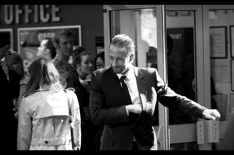 """""""Hey, so that's where I put those chicken wings...""""  Matthias Schoenaerts may just have saved himself money on overpriced cinema popcorn, right there!"""