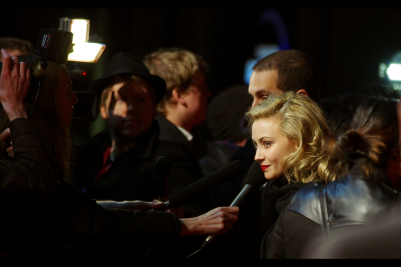 Weirdly, actress Sarah Gadon has been in two of director David Cronenberg's films, and is now in one of his Son's : Brandon Cronenberg, who dircted this film. (It's 2014 as I write this, so I've since seen both David Cronenberg's Cosmopolis and A Dangerous Method - both good)