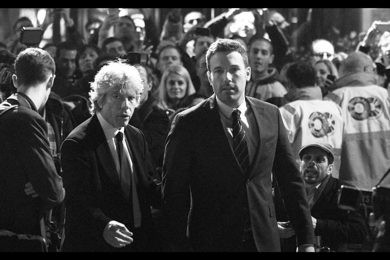 Ben Affleck and Igor head to our side of the crowd. I kinda want a photo with Igor... but how to do this without offending Ben Affleck? Ben Affleck saved the world in Armageddon, damnit!!