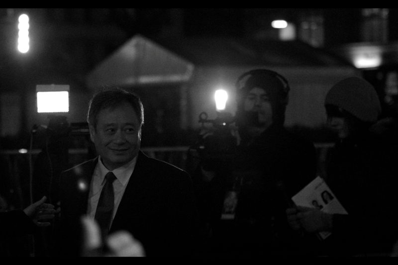 Ang Lee, standing in the DARK part of the premiere.