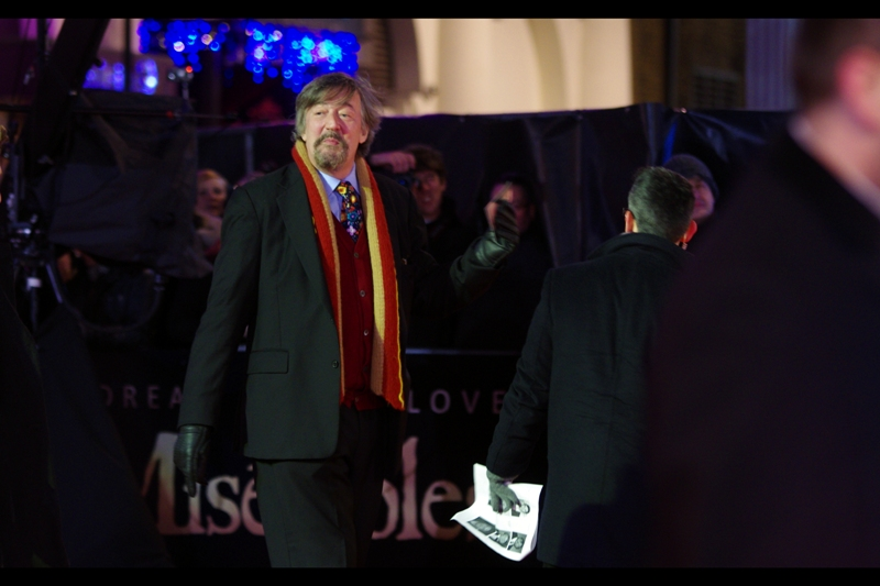 More so than even the premiere-slumming (and occasional director) Dexter Fletcher, I believe Stephen Fry should be a mandatory attendee at every premiere in London, because he lends class and credibility to Everything.