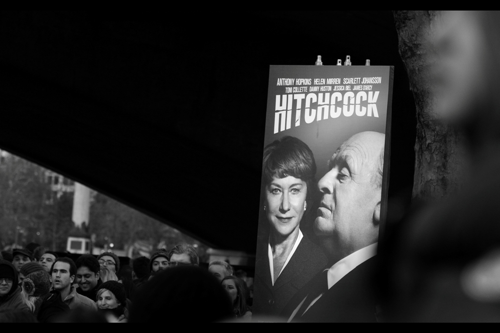 The movie is 'Hitchcock'. And, one day, they will make a film called 'Lucas'. And it will be interesting. But Scarlett Johansson won't be required to get naked in it, so there will be limits to just exactly how interesting.