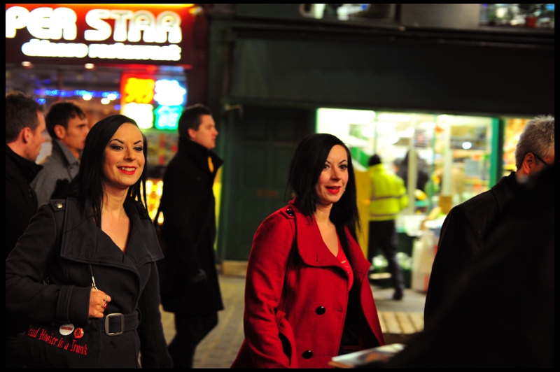 Two fairly similar-looking ladies show up, and this is important because American Mary is written directed by twin sisters Jen and Sylvia Soska. I play the odds and take a snap.
