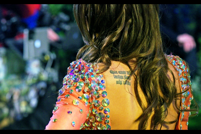 Latin Tattoos now? I wonder if the Pope (outgoing or incoming) has dabbled in that....